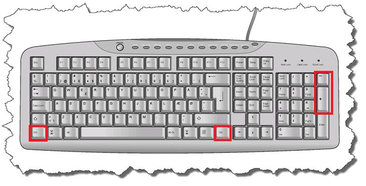 как увеличить шрифт на компьютере с помощью клавиатуры