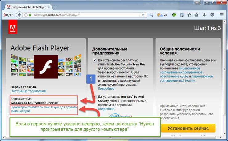 сайт adobe flash player обновить