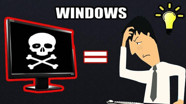 при включении компьютера черный экран и курсор