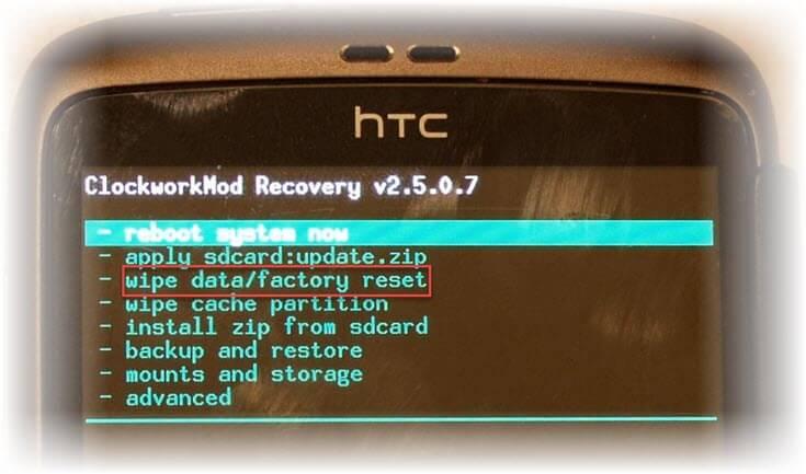 как разблокировать HTC если забыл графический пароль