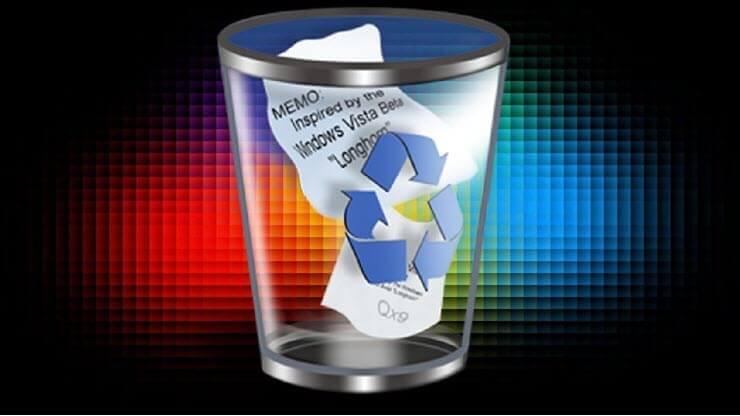 как восстановить из корзины удалённые файлы