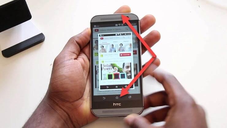 как сделать скриншот на андроиде HTC