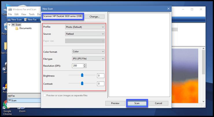 Сканирование в Windows 10