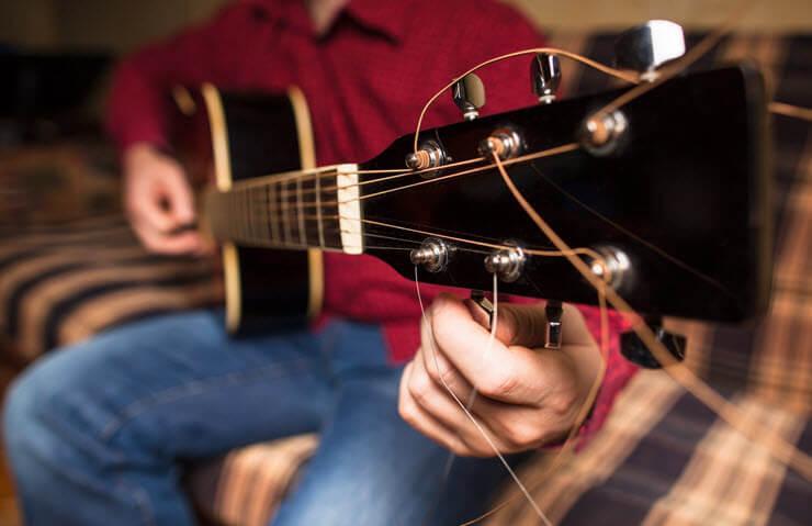 настройка гитары через тюнер онлайн