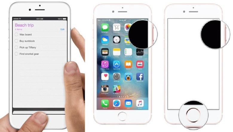Как получить скриншот для iPad, iPhone 8, 7, 6