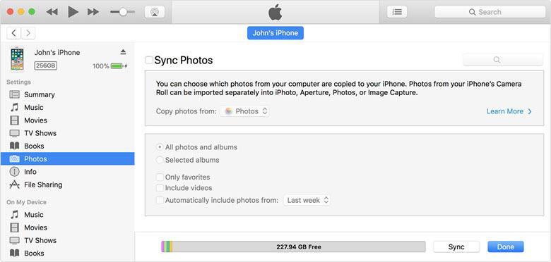 Синхронизация iPhone с Mac или Windows через интерфейс iTunes