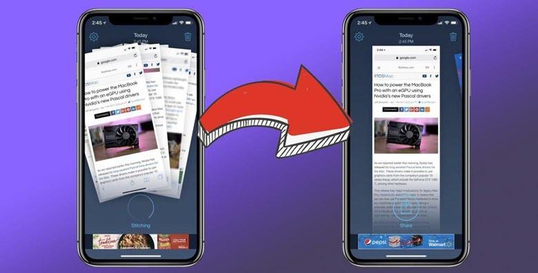 Как на iPad и iPhone сделать длинный скриншот