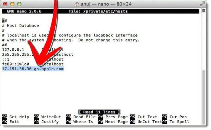 ошибка 3194 на mac правим hosts