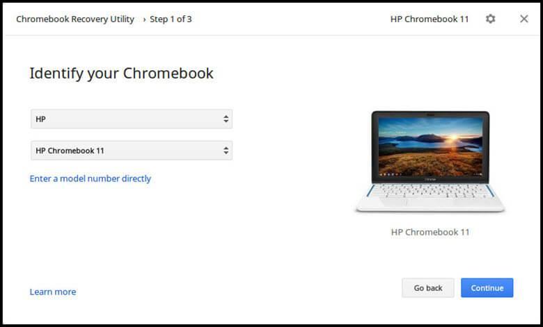 Утилиты восстановления Chromebook