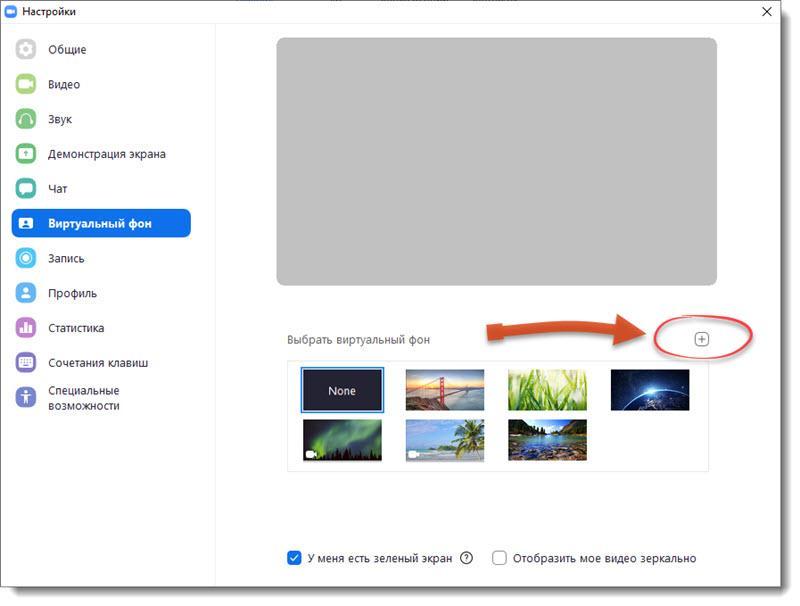 Настройка виртуального фона в Zoom