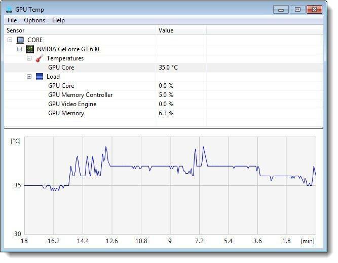GPU Temp как посмотреть температуру видеокарты