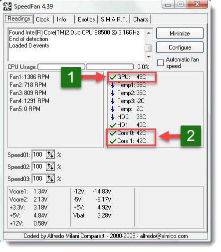 speedfan простой способ узнать температуру