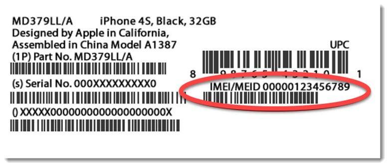 Найдите серийный номер IMEI своего телефона