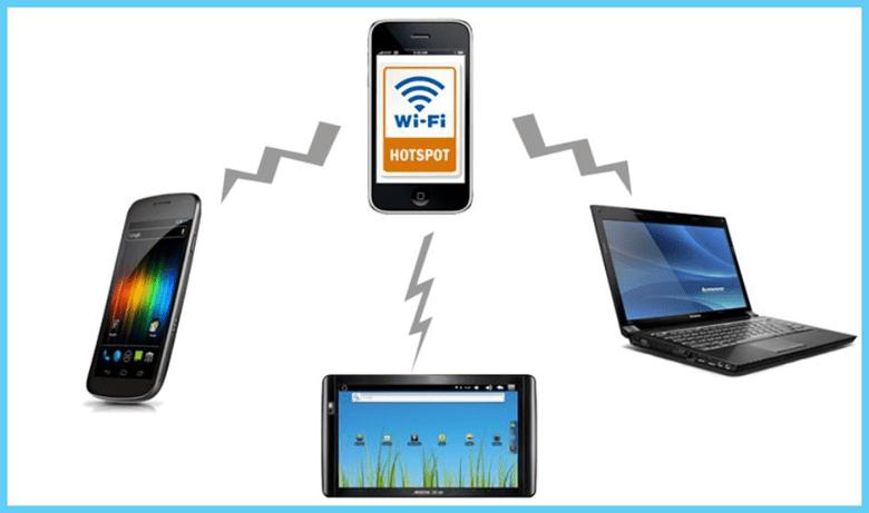 Раздача интернета с телефона при помощи Wi-Fi