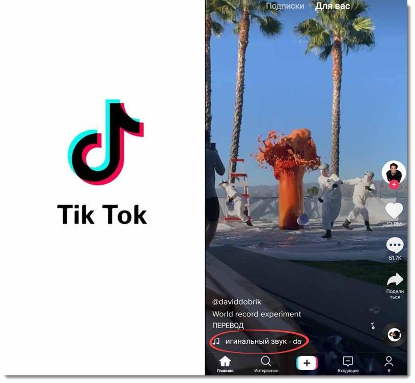 описание ролика в TikTok