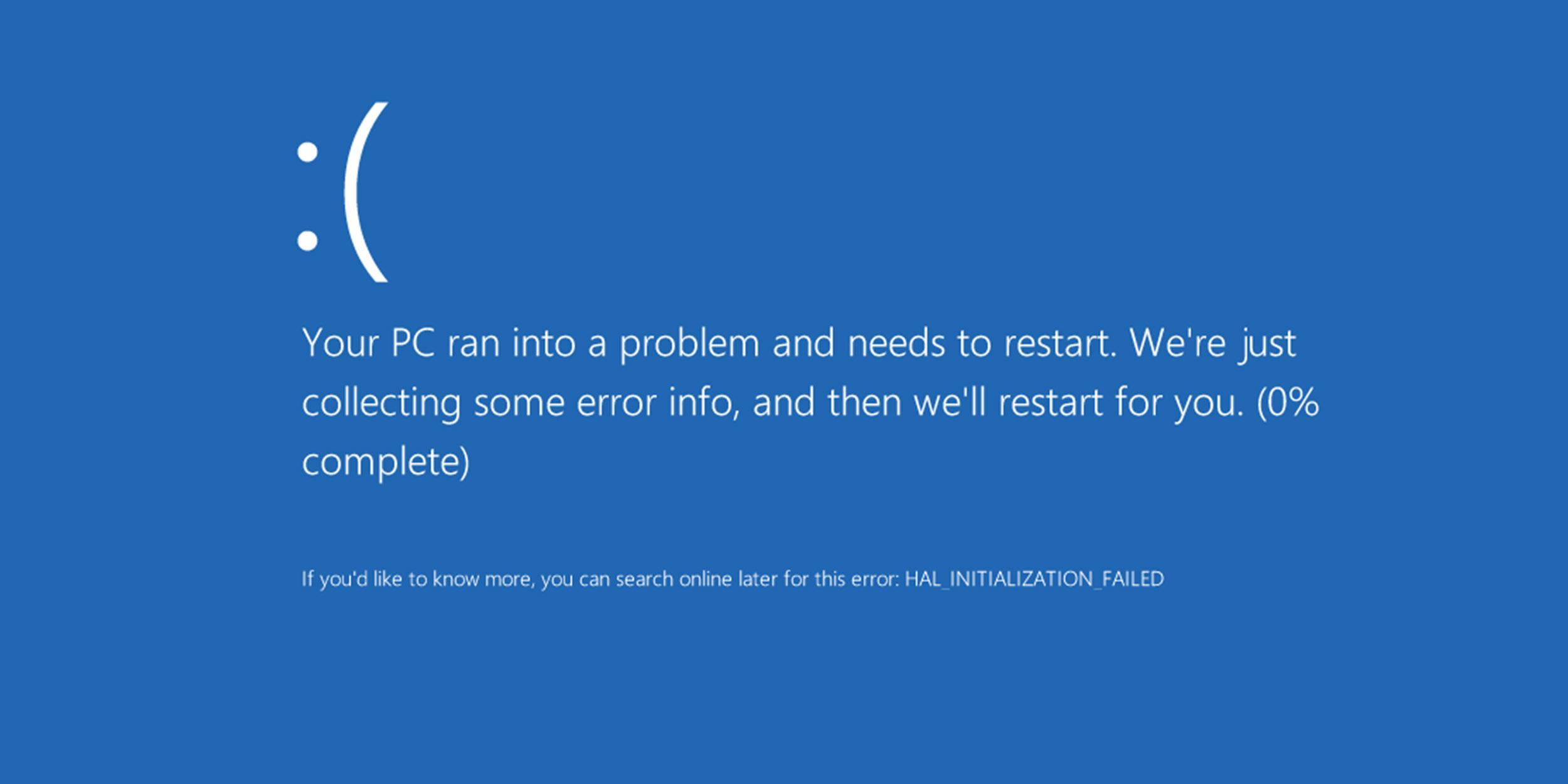 Синий экран смерти Windows 10: причины и решения